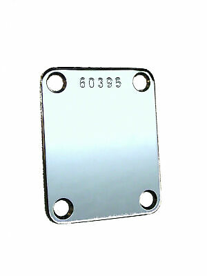 Gotoh Factory Aged RELIC CHROME SERIAL NUMBER Neck Plate for Fender Guitar Bass