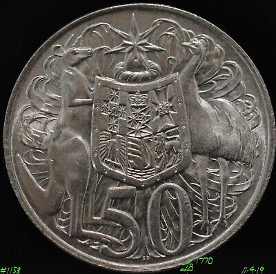 Iconic Australian 1966 Round Fifty 50 Cent Silver Bullion Coin, 80% Silver. #2