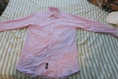 5af435908 Burberry London Neiman Marcus Exclusive Button Front Shirt 16 1/2 L Striped  Pink