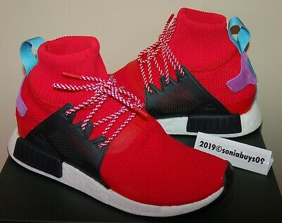 Adidas Men's NMD XR1 Winter High Sock Running Shoes, BZ0632, Scarlet, US Sizes