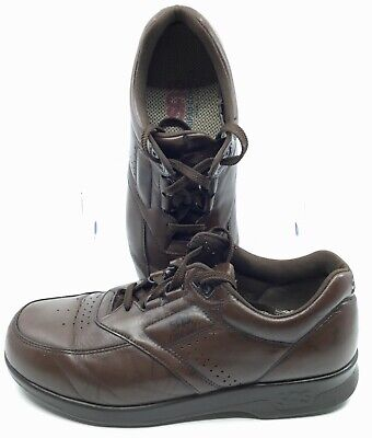 10b6e356b8 SAS Time Out Walking Shoe Mens Sz 9.5 M Brown Leather Comfort Lace Up  Oxford USA