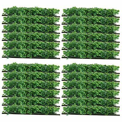 """24 Pcs 10""""x10"""" Artificial Boxwood Hedge Mat Garden Fence Hedge Mat w/ Cable Ties"""