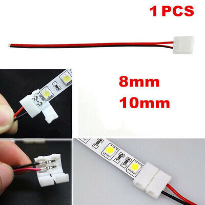 New 5PCS 3528 5050 LED Single Color Strip 2Pin PCB Connector Solderless Cable