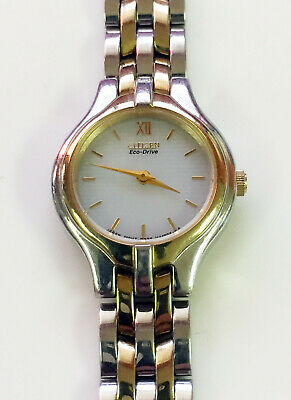 Citizen Eco Drive 2 Tone Gold Silver B023-H30067 Stainless Steel Women's Watch