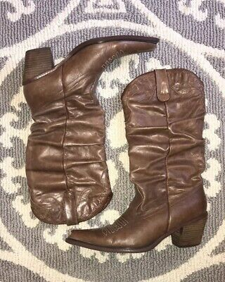 05615571a4b NEW WOMEN'S STEVE Madden Wedge, Leather Boots - Brown - Size: 8.5 ...