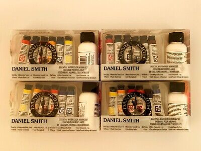 LOT OF 4 Daniel Smith watercolor Paint mixing set Mineral + Essential 36pc *NEW!