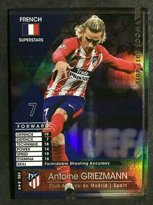 2017-18 Panini WCCF French Superstars Antoine Griezmann refractor card Bleus