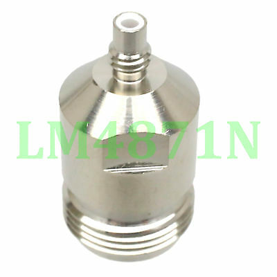 1pce Adapter N female jack to SMC plug male RF connector straight F/M