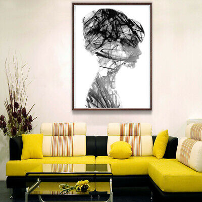 Creative Girl Avatar Canvas Poster Painting Art Print Home Picture Room Decor