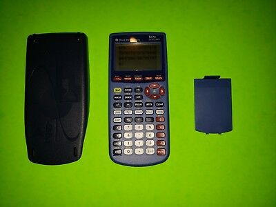 Texas Instruments TI-73 Explorer Graphing Calculator Blue Purple TESTED GREAT