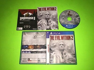The Evil Within 2 PlayStation 4 PS4 II TESTED VERY GOOD 100% COMPLETE CIB Horror
