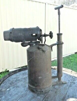 ANTIQUE  BRASS PRIMUS BLOW TORCH - LAMP  Large