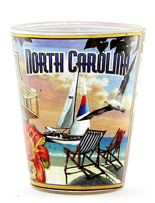 North Carolina State Mural Shot Glass Shotglass