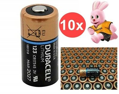 AU NK048-10x Duracell CR123A Ultra lithium battery 10 Pieces