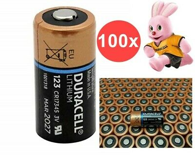 AU NK048-100x Duracell CR123A Ultra lithium battery 100 Pieces
