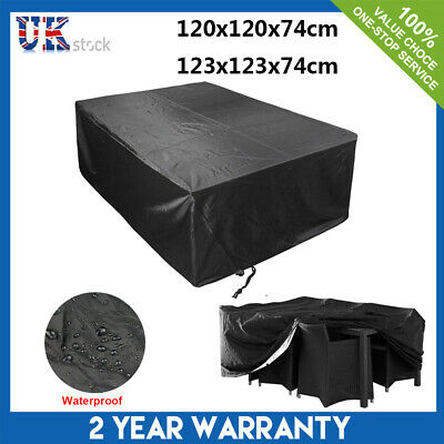 Black Waterproof Square Garden Patio Furniture Cover Rattan Table Cube Outdoor