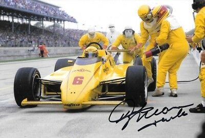 """Rick Mears  SIGNED  Penske Racing March 84C  Indianapolis 500 1984 """" Winner """""""