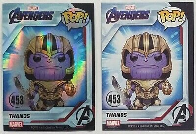 Funko POP EXCLUSIVE Thanos & Foil Holo #453 Marvel Avengers Endgame Cards