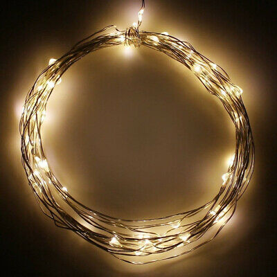 Home Wire Lights Battery Operated String Party Led Flexible Outdoor Indoor Decor