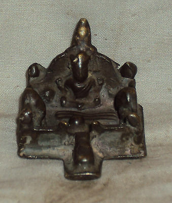 Antique Hindu Traditional Indian Ritual Bronze Rare Family Of God Shiva Rare ##4