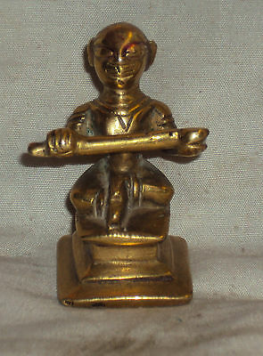 Antique Hindu Traditional Indian Ritual Bronze Goddess Annapurna Rare #8