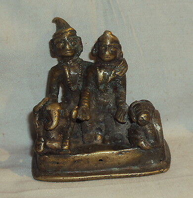 Antique Hindu Traditional Indian Ritual Bronze Rare Family Of God Shiva Rare ##1
