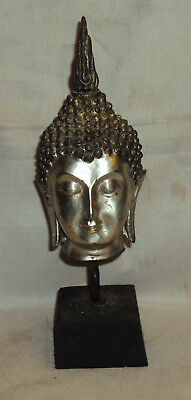 Antique Traditional Asian Brass Buddha Head Rare Collectible