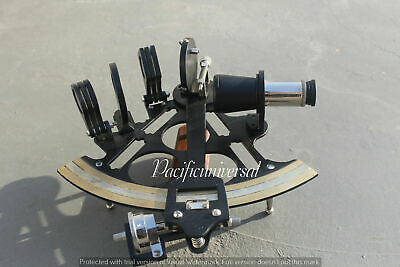 "Handmade Nautical Sextant 8"" Maritime Black Powder Coating Collectible Item."