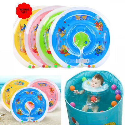 Swiming Ring Newborn Baby Swimming Neck Float Ring Bath Inflatable Circle F4L3H