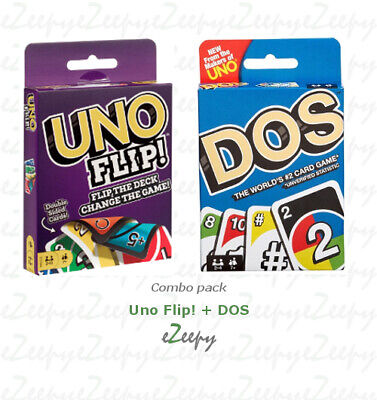 Uno Flip! + DOS (COMBO PACK) BRAND NEW & IN STOCK from the makers of UNO