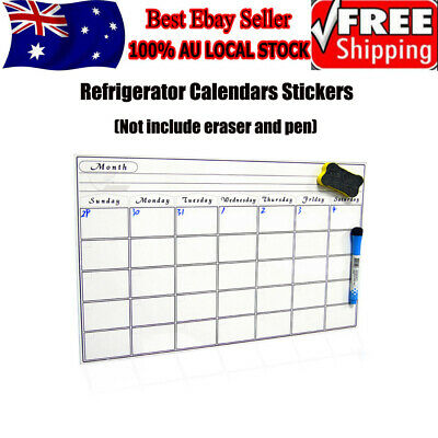 A3 Magnetic Calendar Dry Erase, Large Multi-Function Whiteboard, Month Planner