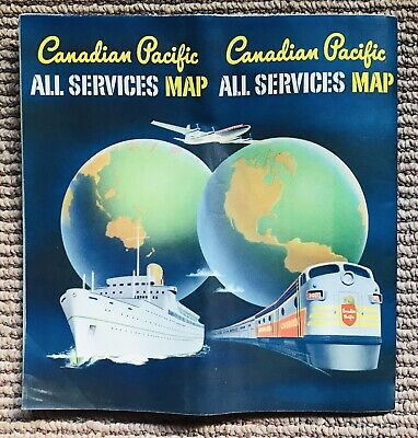 Vintage Canadian All Services Map