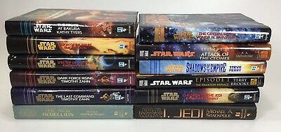 Star Wars Hardcover Book Lot Of 12 Excellent Condition