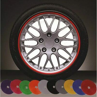 8 m car wheel protection wheel sticker decorative strip rim / tire care cover