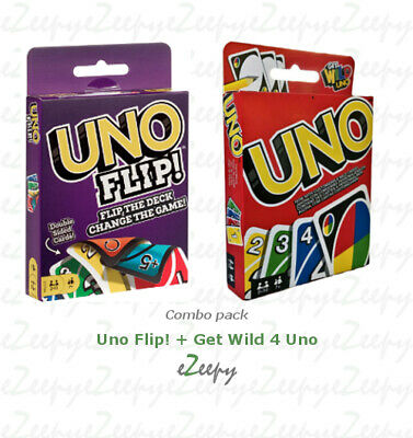 Uno Flip! + Get Wild 4 UNO (COMBO PACK) BRAND NEW & IN STOCK By makers of UNO