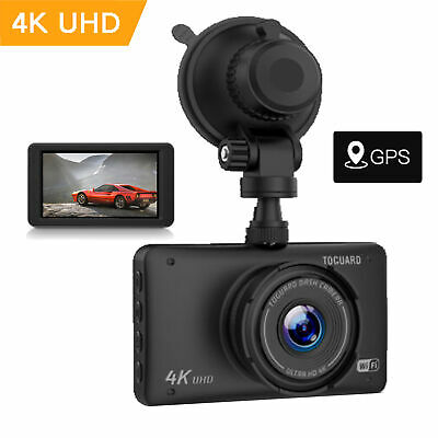 "TOGUARD 4K UHD Car Dash Cam WIFI GPS 3"" DVR Video Recorder Camera 170° G-sensor"