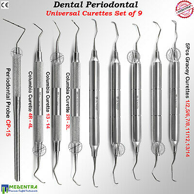 Dentist Periodontal Columbia Gracey Curettes Supragingival Calculus Removal Set