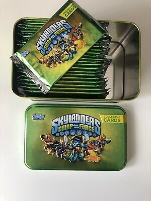 Topps Skylanders Swap Force Collectors Tin Incl 9 Sealed Random Booster packets