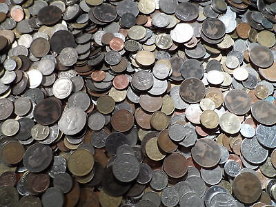 Mixed English Coins - 1/2pence, 3d, 6d, large 10p,5p, 1 & 2 shillings MANY MORE!
