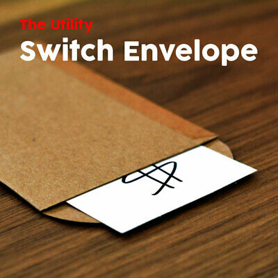 Magician's Utility Switch Envelope Mentalism Card Prediction Gimmick Magic Trick