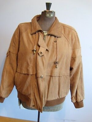 28a3651ad IZZI WOMEN'S BROWN genuine leather bomber jacket size M - $19.95 ...