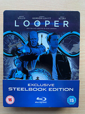 Looper 2012 Ciencia Ficción Sci-Fi Time Travel Suspense Gb Blu-Ray Caja Metálica