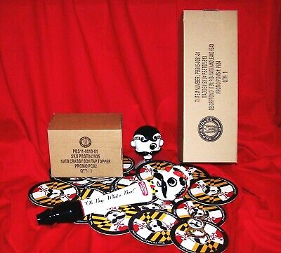 NEW IN BOX RARE NATTY BOH CRAB HEAD TAP HANDLE w/COASTERS & BOTTLE OPENER & HEAD