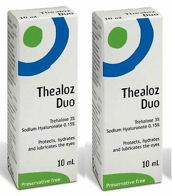 2x Thealoz Duo 10ml Spectrum Thea Preservative Free for Dry Eyes