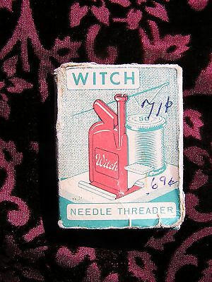Vintage 1954 Witch Automatic Needle Threader Guided Sewing String Seamstress