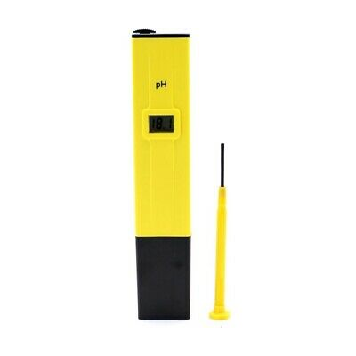 Yellow With Black Ph Meter Tester Screwdriver Water LCD Monitor Pen Aquariu S9G8