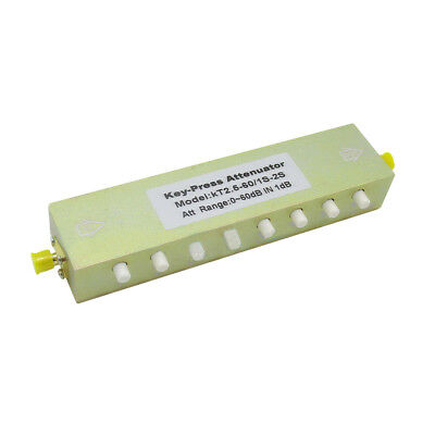 New Adjustable Key-Press SMA RF Step Attenuator Stepping 1dB DC-2.5GHz 0 ~ 60dB