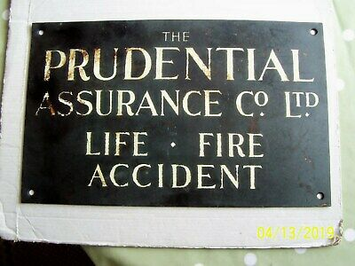 Prudential Assurance Co Ltd Original Copper Plaque, 1920/30s