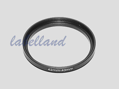 42mm-43mm Filter Adaptor Ring Converts 42mm lens thread to 43mm 42-43 Step-Up
