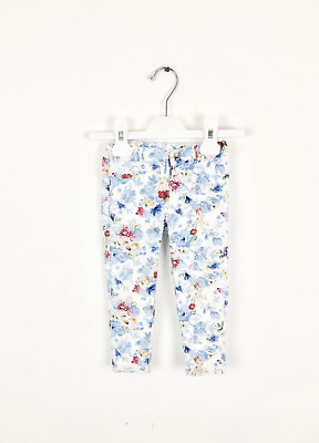 18m Mayoral girls blue floral skinny trousers